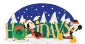 Surprise Mickey & Minnie Holiday Pin