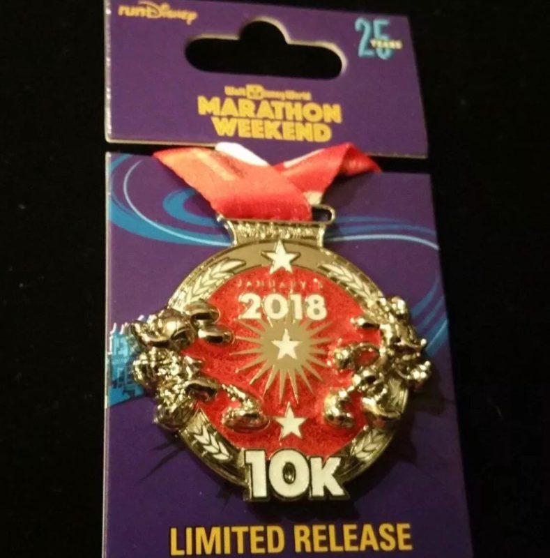 10K Medal Pin