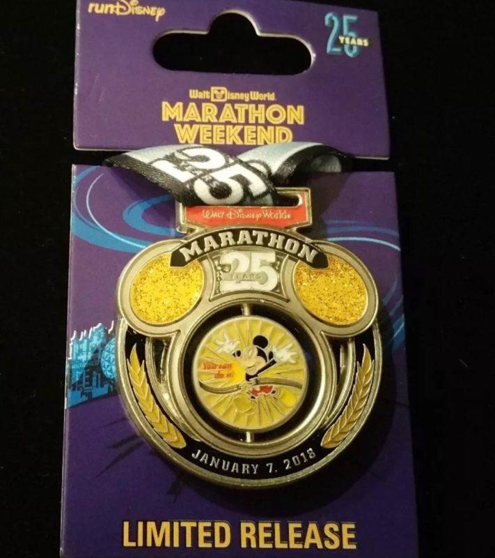 25th Anniversary Disney Marathon Pin