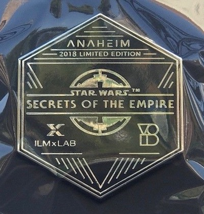 Anaheim Secrets of the Empire Pin