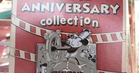 Cast Member Movie Anniversary Steamboat Willie Pin