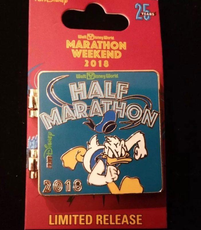 Donald Duck Half Marathon Pin