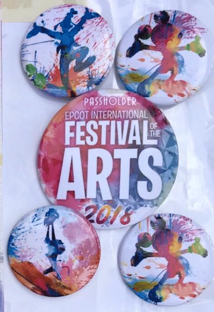 Epcot International Festival Of The Arts 2018 Passholder Buttons Disney Pins Blog