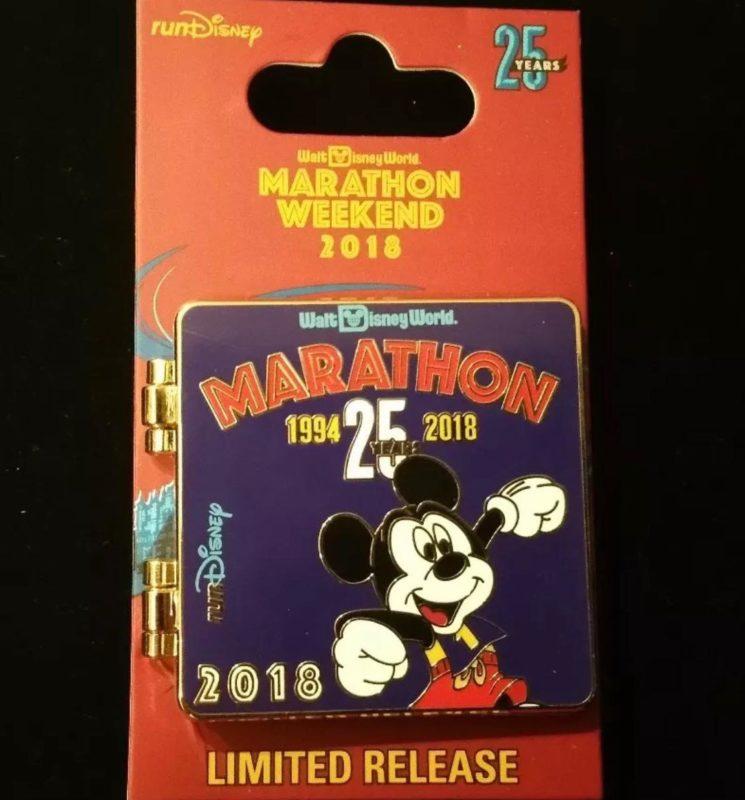 Mickey 25 Years Marathon Pin