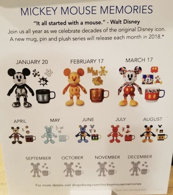 Mickey Mouse Memories 2018 Calendar