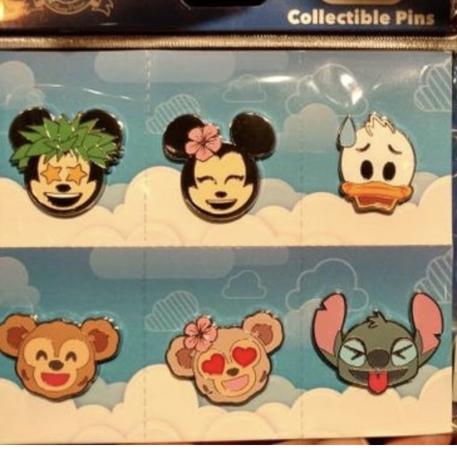 Aulani Disney Emoji Pin Set
