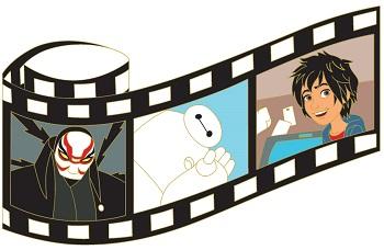 Big Hero 6 Film Strip Pin