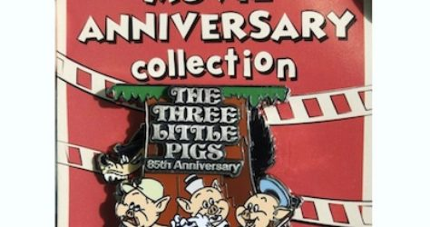 Cast Member Movie Anniversary The Three Little Pigs Pin