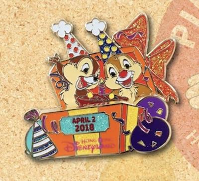 Chip & Dale Birthday 2018 Disney Pin