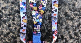 Disney Emoji Reversible Lanyard