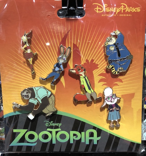 Disney Zootopia Pin Set