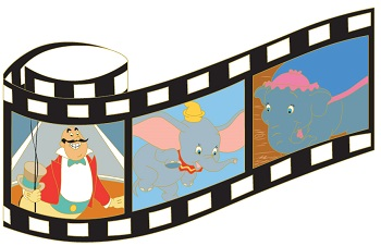 Dumbo Film Strip Pin