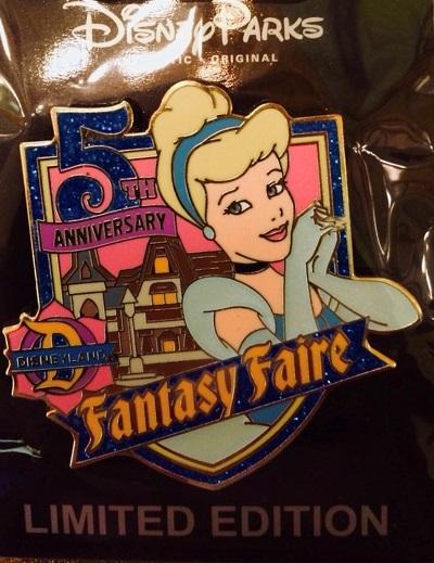 Fantasy Faire 5th Anniversary Cast Member Pin