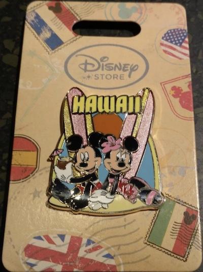 Mickey & Minnie Surfboard Hawaii Pin