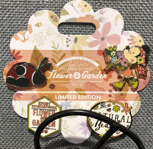 Natural Beauty Epcot Flower & Garden 2018 Pin Set