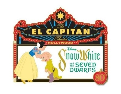 Snow White 80th Anniversary Marquee Pin