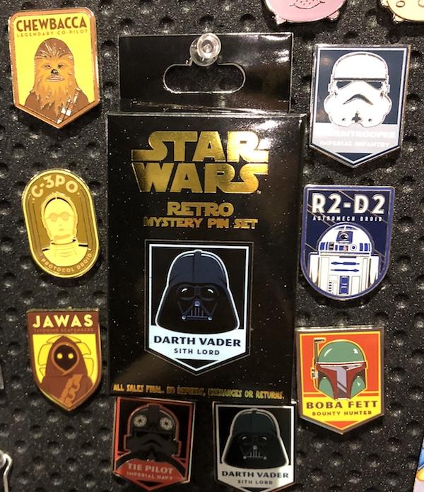 Star Wars Retro Mystery Pin Set