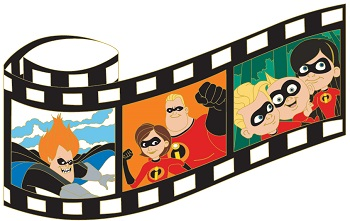 The Incredibles Film Strip Pin