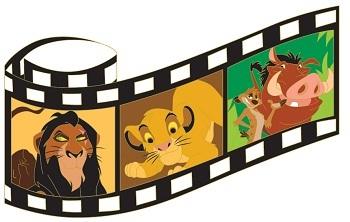 The Lion King Film Strip Pin