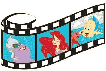 The Little Mermaid Film Strip Pin