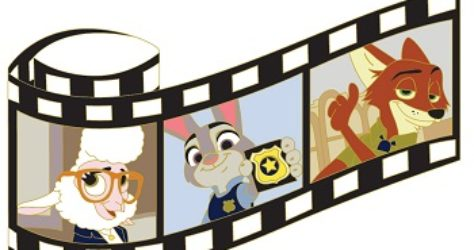 Zootopia Film Strip Pin