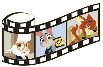 Zootopia Film Strip Pin