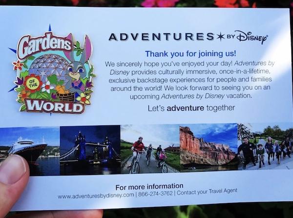 Adventures by Disney Garden Epcot Tour