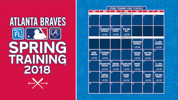 Atlanta Braves 2018 Spring Training