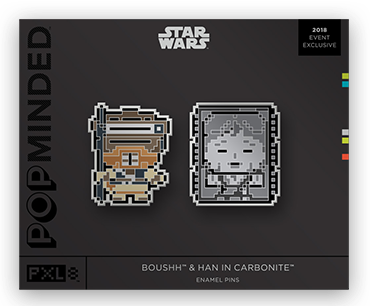 Boushh & Han in Carbonite Star Wars PopMinded Pins