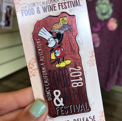 Disney California Adventure Food & Wine Festival 2018 Pin