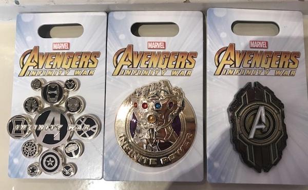 First Avengers Infinity War Disney Pins