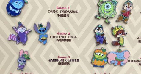Hong Kong Disneyland Food Game Pins