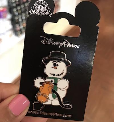Knick Knack Snowman Disney Pin