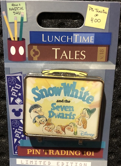 Lunch Time Tales 2018 Snow White Pin