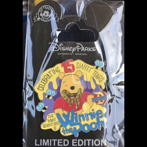 The Many Adventures of Winnie the Pooh 15th Anniversary Pin