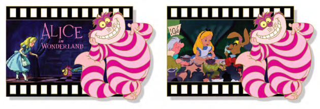 Alice in Wonderland Filmstrip Lenticular Pin