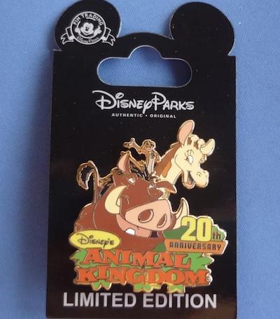 Animal Kingdom 20th Anniversary Cast Member Pin
