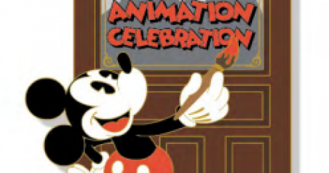 Animation Celebration Logo Pin