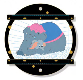Animation Disc Mini Jumbo Pin - Dumbo