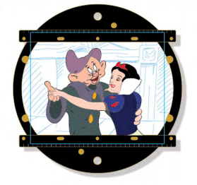 Animation Disc Mini Jumbo Pin - Snow White and the Seven Dwarfs
