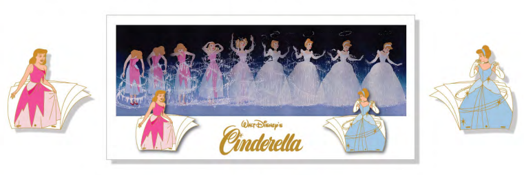 Cinderella Sequential Animation Pin & Lithograph