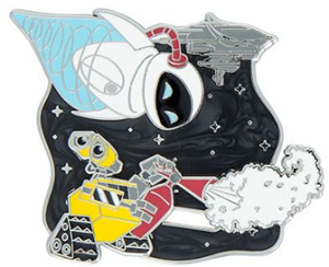 Eve and WALL-E Flying Limited Edition Pin