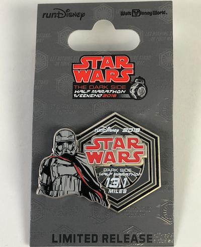 Half Marathon Star Wars Dark Side 2018 Pin