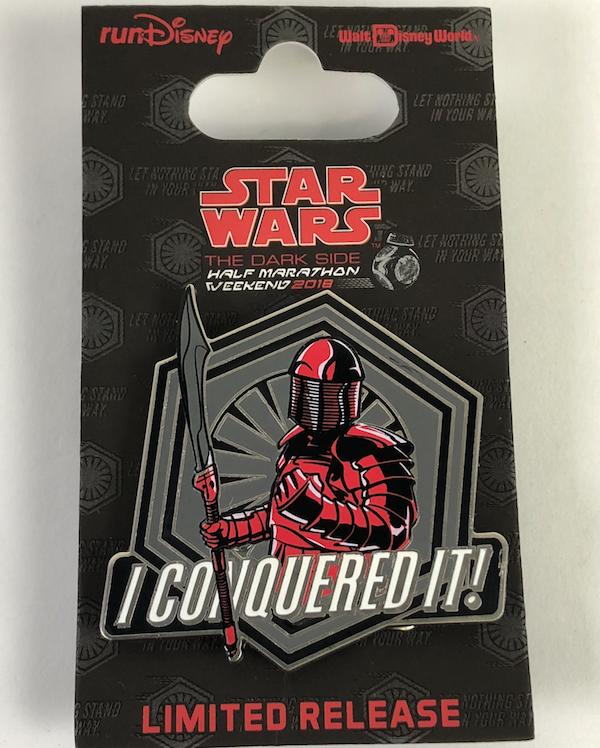 I Conquered It 10k Star Wars 2018 Pin