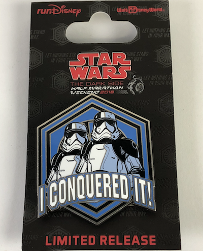 I Conquered It 5k Star Wars 2018 Pin
