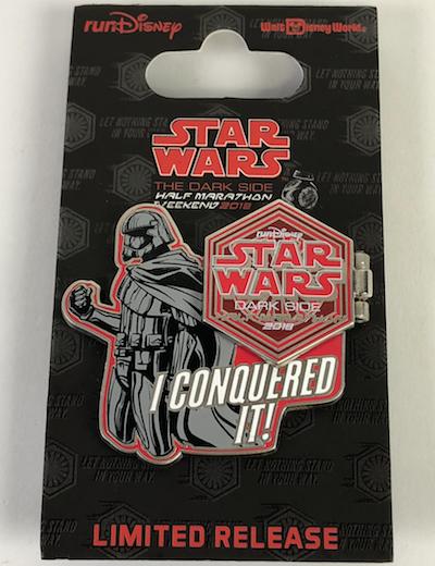 I Conquered It Half Marathon Star Wars 2018 Pin