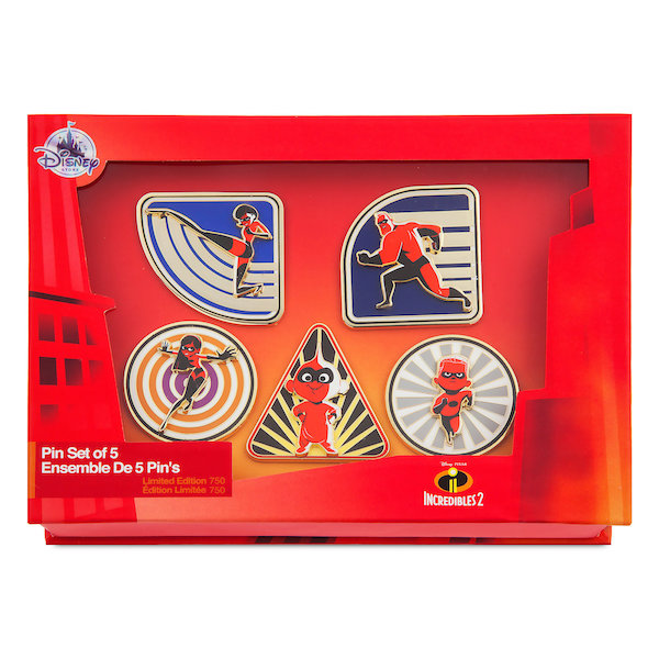 Incredibles 2 Limited Edition Pin Set