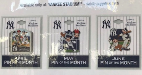 New York Yankees 2018 Disney Pins