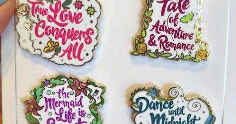 Princess Quotes Disney Pin Set