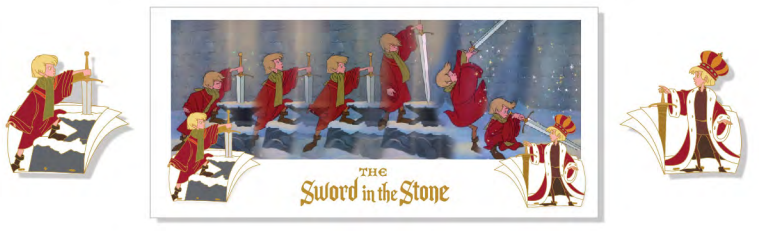Sword and the Stone Sequential Animation Pin & Lithograph